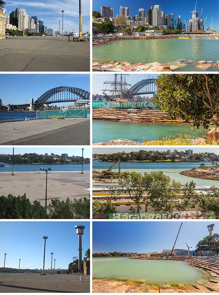 Barangaroo Building Process - Before & After
