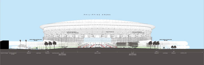 New era university philippine arena pwp landscape architecture entrance of the philippine arena as well as casual seating for cooler days and evenings bougainvillea cascades down the steps providing a sculptural malvernweather Images