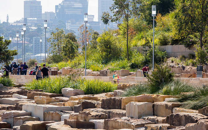 Opening day barangaroo reserve pwp landscape architecture for Garden design jobs sydney